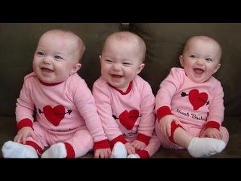 【赤ちゃんおもしろ】『三つ子の赤ちゃんが可愛すぎて笑える癒し動画集